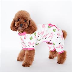 お買い得  猫の服-ネコ 犬 スウェットシャツ パジャマ 犬用ウェア 動物 イエロー ブルー ピンク コットン コスチューム ペット用 ワンピース カジュアル/普段着 レジャー