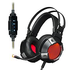 お買い得  ヘッドセット、ヘッドホン-AJAZZ AX361 7.1 ヘアバンド ケーブル ヘッドホン 動的 ステンレス鋼 / プラスチック ゲーム イヤホン ボリュームコントロール付き / マイク付き / デュアルドライバ ヘッドセット