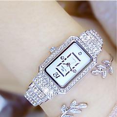 preiswerte Tolle Angebote auf Uhren-Damen Armbanduhr Japanisch Quartz 30 m Armbanduhren für den Alltag Edelstahl Band Analog Charme Silber / Gold - Gold Silber