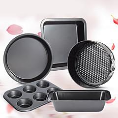 abordables Herramientas y accesorios para hornear-Herramientas para hornear Acero inoxidable Rapidez Pastel Circular 5pcs