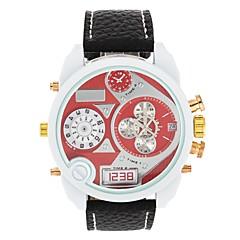 お買い得  大特価腕時計-JUBAOLI 男性用 / 女性用 ファッションウォッチ / リストウォッチ 中国 2タイムゾーン / クール レザー バンド