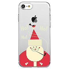 Недорогие Кейсы для iPhone 5-Кейс для Назначение Apple iPhone 8 iPhone 8 Plus С узором Задняя крышка Мультипликация Рождество Мягкий TPU для iPhone X iPhone 8 Pluss