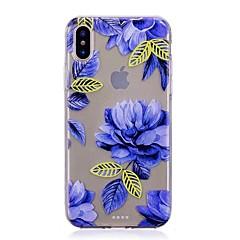 Na iPhone X iPhone 8 iPhone 7 iPhone 7 Plus iPhone 6 Etui Pokrowce Ultra cienkie Wzór Etui na tył Kılıf Kwiaty Miękkie Poliuretan