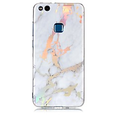 cheap Huawei P Series Cases / Covers-Case For Huawei P8 Lite (2017) P10 Lite Plating IMD Back Cover Marble Soft TPU for Huawei P10 Lite Huawei P9 Lite Huawei P8 Lite Huawei