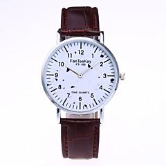 お買い得  メンズ腕時計-男性用 女性用 ファッションウォッチ リストウォッチ クォーツ PU バンド ハンズ ブラック / 白 / ブラウン - ホワイト ブラック コーヒー 1年間 電池寿命