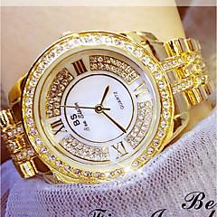 お買い得  レディース腕時計-女性用 日本産 ステンレス バンド シルバー / ゴールド