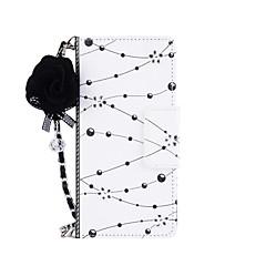Недорогие Чехлы и кейсы для Galaxy Note 5-Кейс для Назначение Note 8 Note 5 Бумажник для карт Кошелек со стендом Флип Магнитный С узором Своими руками Чехол Цветы Твердый Кожа PU