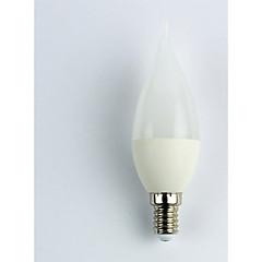preiswerte LED-Birnen-1pc 3W 225lm E14 LED Glühlampen C35 5 LED-Perlen SMD 3528 Kühles Weiß 110-240V