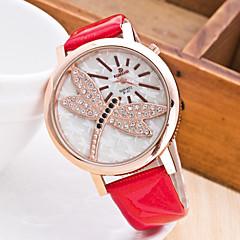 preiswerte Damenuhren-Damen Armbanduhr Quartz Chronograph Caucho Band Analog Freizeit Modisch Elegant Schwarz / Weiß / Blau - Kaffee Rot Blau Ein Jahr Batterielebensdauer