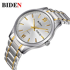 Men's Casual Watch Fashion Watch Wrist watch Japanese Quartz Calendar / date / day Casual Watch Stainless Steel Band Casual Elegant Silver
