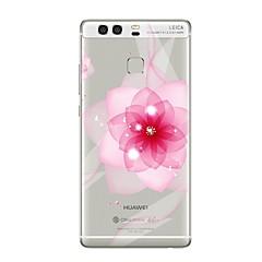 billige Nyheder-Etui Til Huawei P9 Huawei P9 Lite Huawei P8 Huawei Huawei P9 Plus Huawei P8 Lite P9 P10 Transparent Mønster Bagcover Blomst Blødt TPU for