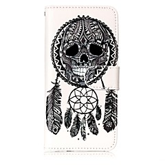 tanie Etui do iPhone-Kılıf Na Apple iPhone X iPhone 8 Etui na karty Portfel Z podpórką Pełne etui Łapacz snów Twarde Skóra PU na iPhone X iPhone 8 Plus iPhone