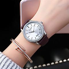 preiswerte Damenuhren-Damen Armbanduhr Japanisch Kalender / Armbanduhren für den Alltag Leder Band Freizeit / Modisch / Elegant Schwarz / Weiß / Blau