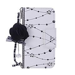 Недорогие Кейсы для iPhone-Кейс для Назначение Apple iPhone X / iPhone 8 Кошелек / Бумажник для карт / со стендом Чехол Цветы Твердый Кожа PU для iPhone X / iPhone 8 Pluss / iPhone 8 / Своими руками