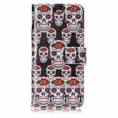 cheap iPhone 7 Cases-Case For Apple iPhone X iPhone 8 Card Holder Wallet with Stand Full Body Cases Skull Hard PU Leather for iPhone X iPhone 8 Plus iPhone 8