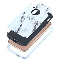 voordelige iPhone-hoesjes-hoesje Voor Apple iPhone X iPhone X Schokbestendig Volledig hoesje Marmer Hard PC voor iPhone X