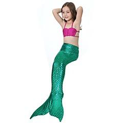 The Little Mermaid 수영복 비키니 키드 크리스마스 가장 무도회 페스티발 / 홀리데이 할로윈 의상 핑크 블루 그린 후크시아 솔리드