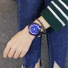 voordelige Dameshorloges-Heren Dames Vrijetijdshorloge Polshorloge Digitaal horloge Chinees Digitaal Vrijetijdshorloge Grote wijzerplaat PU Band Cool Zwart Bruin