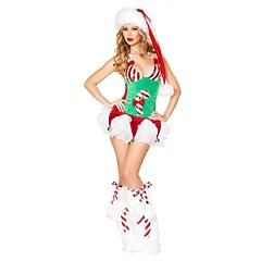 hesapli -Noel Giysisi Noel Şapkası Kadın Yılbaşı Festival / Tatil Cadılar Bayramı Kostümleri Yeşil Noel