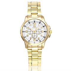 お買い得  大特価腕時計-女性用 リストウォッチ 中国 カジュアルウォッチ 合金 バンド ぜいたく / カジュアル / ファッション ゴールド