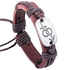 preiswerte Armbänder-Herrn Armband - Leder Einfach, Süß Armbänder Braun Für Verabredung Valentinstag