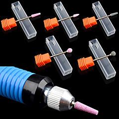 5Pcs/lot Super Ceramic Stone Nail Drill Bit Mill Cutter Electric Drill Manicure Machines Pedicure Nail Salon Polish Tools