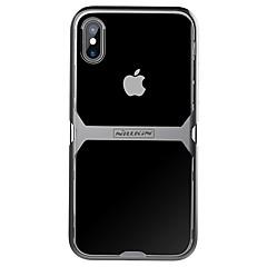 Недорогие Кейсы для iPhone X-Кейс для Назначение Apple iPhone X iPhone X Защита от удара Ультратонкий Кейс на заднюю панель Прозрачный броня Твердый ТПУ для iPhone X