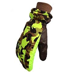 お買い得  スキー手袋-ウインター スキーグローブ 子供用 フルフィンガー 保温 防風 横滑り防止 耐久 ポリ&コットン混 キャンピング&ハイキング サイクリング スキー キャンプ/ハイキング/ケイビング オートバイ 冬