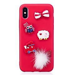 お買い得  iPhone 5S/SE ケース-ケース 用途 Apple iPhone X iPhone 8 パターン DIY バックカバー クリスマス ソフト TPU のために iPhone X iPhone 8 Plus iPhone 8 iPhone 7 Plus iPhone 7 iPhone 6s Plus
