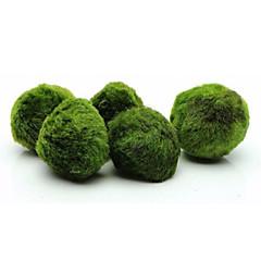 お買い得  アクアリウムデコレーション-アクアリウムの装飾 植物 飾り ミニ デコレーション 絞り クアルコム認定 人工 無毒&無味 合繊糸 炭素繊維 + EPS