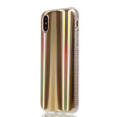 Недорогие Кейсы для iPhone 5-Кейс для Назначение Apple iPhone X iPhone 8 Plus Покрытие Кейс на заднюю панель Полосы / волосы Градиент цвета Мягкий ТПУ для iPhone X
