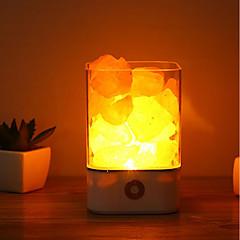1pc usb yövalo virtalähde luonnollinen himalayan suola lamppu ainutlaatuinen kristalli suolat makuuhuone valo koristelu käsitöitä