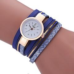 preiswerte Damenuhren-Damen Armband-Uhr Quartz Imitation Diamant PU Band Analog Quaste Freizeit Böhmische Schwarz / Weiß / Blau - Grau Blau Hellblau Ein Jahr Batterielebensdauer