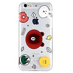 Недорогие Кейсы для iPhone 6 Plus-Кейс для Назначение Apple iPhone 6 iPhone 6 Plus iPhone 7 Plus iPhone 7 Прозрачный С узором Своими руками Кейс на заднюю панель 3D в
