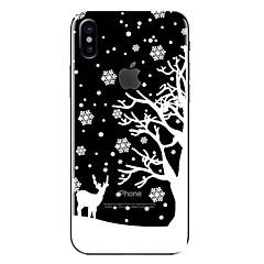 Недорогие Кейсы для iPhone 7 Plus-Кейс для Назначение Apple iPhone X iPhone 8 Прозрачный С узором Кейс на заднюю панель Рождество Мягкий ТПУ для iPhone X iPhone 8 Pluss