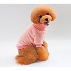 voordelige Hondenkleding & -accessoires-Kat Hond Sweatshirt Hondenkleding nieuw Casual/Dagelijks Houd Warm Effen Blauw Roze Kostuum Voor huisdieren