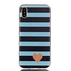 Недорогие Кейсы для iPhone X-Кейс для Назначение Apple iPhone X / iPhone 8 Ультратонкий / С узором Кейс на заднюю панель Полосы / волосы / С сердцем Мягкий ТПУ для iPhone X / iPhone 8 Pluss / iPhone 8