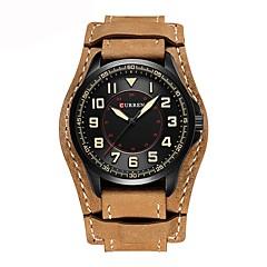 Herrn Kinder Sportuhr Modeuhr Armbanduhr Japanisch Quartz Chronograph Wasserdicht Armbanduhren für den Alltag Echtes Leder Band Freizeit