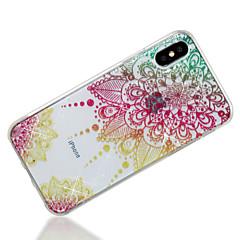 Недорогие Кейсы для iPhone X-Кейс для Назначение Apple iPhone X / iPhone 8 IMD / С узором Кейс на заднюю панель Мандала / Сияние и блеск Мягкий ТПУ для iPhone X / iPhone 8 Pluss / iPhone 8
