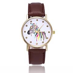 preiswerte Tolle Angebote auf Uhren-Damen Quartz Armbanduhr Chinesisch Armbanduhren für den Alltag PU Band Freizeit Minimalistisch Mehrfarbig Schwarz Weiß Blau Rot Orange