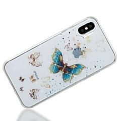 Недорогие Кейсы для iPhone 6-Кейс для Назначение Apple iPhone X iPhone 8 IMD С узором Кейс на заднюю панель Бабочка Сияние и блеск Мягкий ТПУ для iPhone X iPhone 8