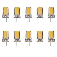 10pcs 2W G4 LED Bi-pin Lights 1 leds COB Warm White Cold White 80lm 3500/6500K AC 220-240V