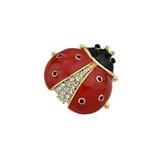 tanie Broszki-Damskie Broszki Biżuteria Zwierzęta Podstawowy Stop Circle Shape Black Czerwony Biżuteria Na Ulica Randka