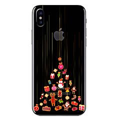 Недорогие Кейсы для iPhone 7-Кейс для Назначение Apple iPhone X / iPhone 8 Прозрачный / С узором Кейс на заднюю панель Рождество Мягкий ТПУ для iPhone X / iPhone 8 Pluss / iPhone 8