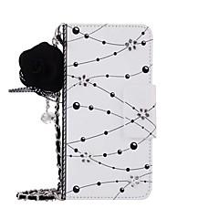 halpa Uudet tuotteet-Etui Käyttötarkoitus Huawei P10 Plus P10 Lomapkko Korttikotelo Tuella Flip Kuvio Kokonaan peittävä Kukka Kova PU-nahka varten Huawei P10