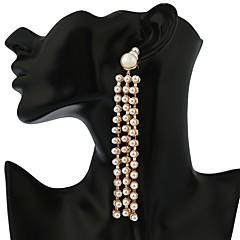 preiswerte Ohrringe-Damen Perle Lang Ohrstecker / Tropfen-Ohrringe - Perle Erklärung, Retro, Modisch Gold / Silber Für Party / Geschenk
