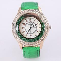 preiswerte Armbanduhren für Paare-Damen Paar Armbanduhr Quartz Armbanduhren für den Alltag Cool Legierung Band Analog-Digital Blume Freizeit Modisch Schwarz / Weiß / Rot - Rot Grün Blau