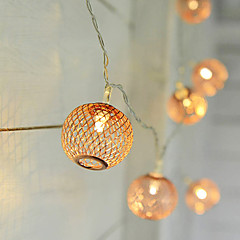 preiswerte LED Lichtstreifen-Leuchtgirlanden 10 LEDs Warmes Weiß <5V