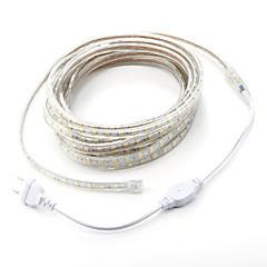 저렴한 -7m / 1PCS는 5050 유연한 테이프 로프 스트립 조명 크리스마스 방수 정원 야외 lightingeu가 유럽 연합 (EU)을 연결 옥외 LED 220V