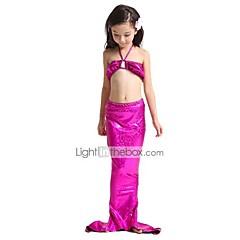 The Little Mermaid Fürdőruha Bikini Gyermek Karácsony Álarcos mulatság Fesztivál / ünnepek Mindszentek napi kösztümök Kék Bíbor Zöld